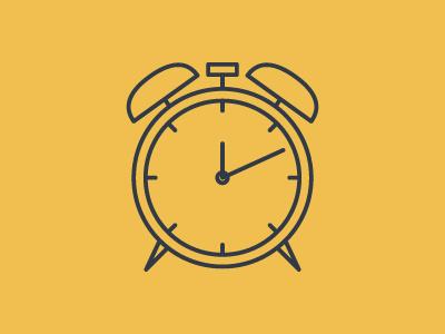 Clock clock icon pictogram simple line