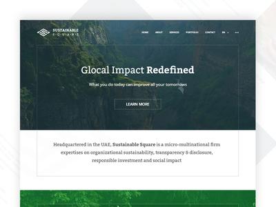 Corporate Website Revamp layout simple white green dark feel revamp landingpage corporate website design ui