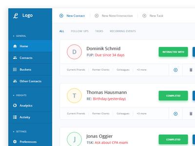 CRM Dashboard Landingpage 03 crm dashboard landing page ui design layout simple admin panel management clients contacts