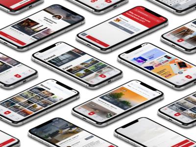 Buy & Sell Listings iOS App perspective mockup user interface iphonex ios app design design ux ui