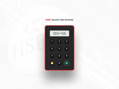 Fun Project - Security Code Generator Illustration product redesign hsbc sketch design generator security illustration