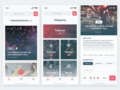 Event Listings iOS App sketch design simple inspiration iphonex ios app design uxdesign uidesign