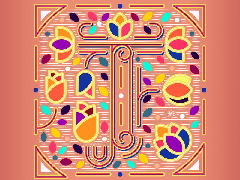 36 Days of Type // T flat design mexico capital letters graphic design letters illustrator lettering design vector illustration
