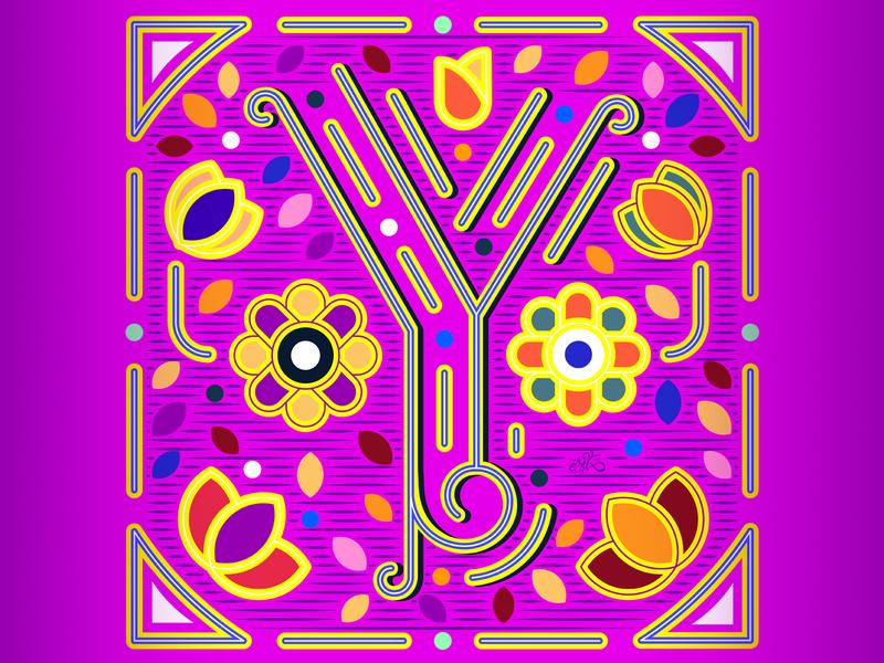 36 Days of Type // Y mexico flat flatdesign capital letters letters illustrator lettering vector illustration erikdgmx