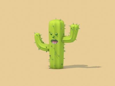 Mr. Cactus digital art render cactus 3dmodeling 3dmodel c4d cartoon character illustration erikdgmx