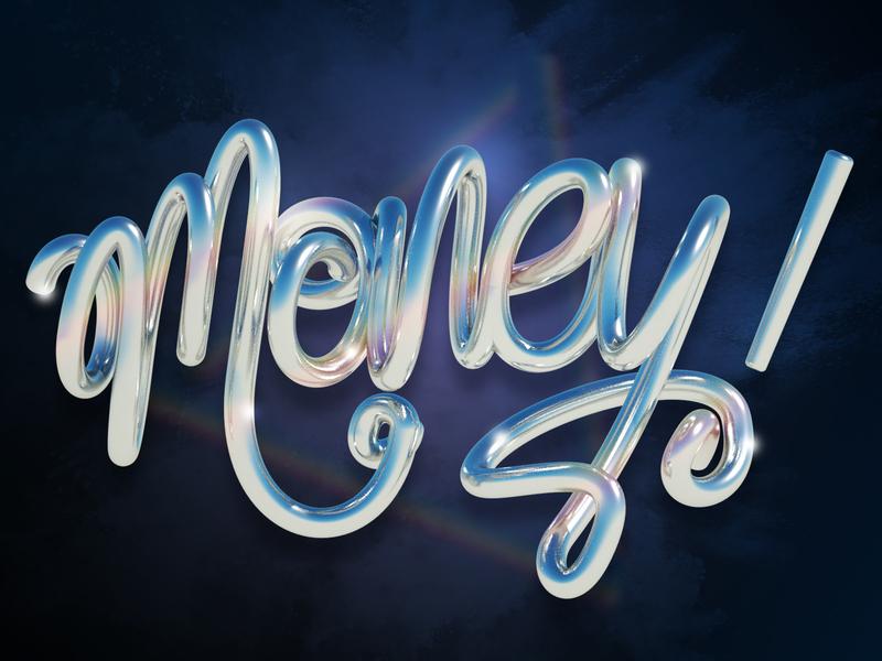 Money 3d art type render c4d 3d money letters graphic design lettering erikdgmx