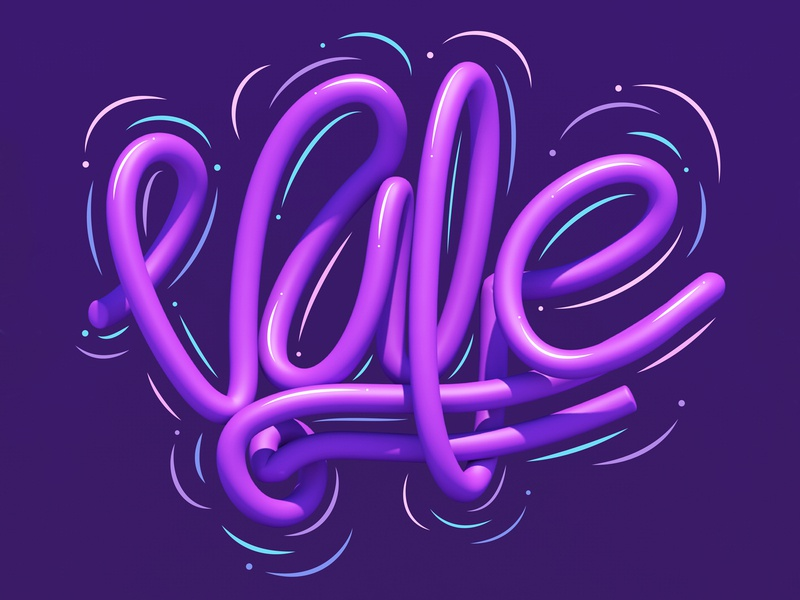 Vale letras 3d art 3d typographic typography type letters graphic design lettering erikdgmx