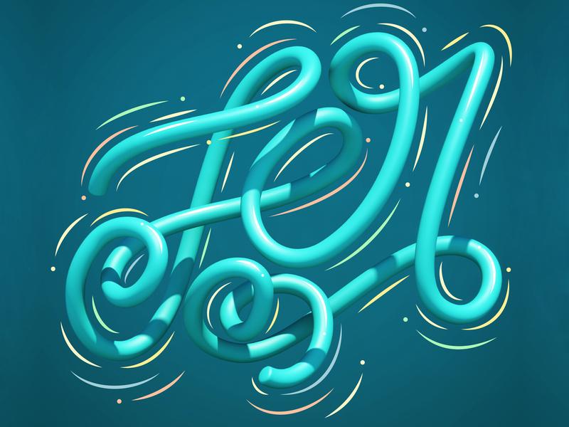 Fer 3d art type typography 3d erikdgmx style letters graphic design lettering illustration