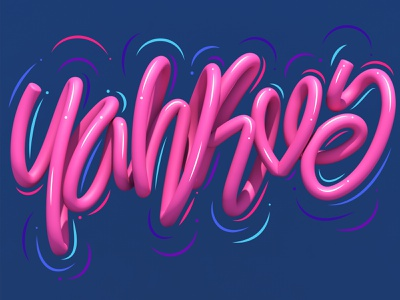 Yahkve graphic design illustrator typography type 3d art 3d letters lettering illustration erikdgmx