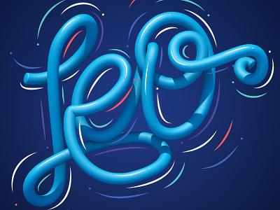 Leo illustrator typography type 3d art 3d style lettering letters illustration erikdgmx