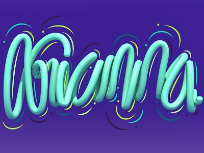 Arianna cinema 4d 3d art 3d typography type style letters lettering illustration erikdgmx