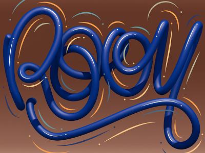 Rooy cinema 4d 3d art 3d typography type illustrator letters lettering illustration erikdgmx