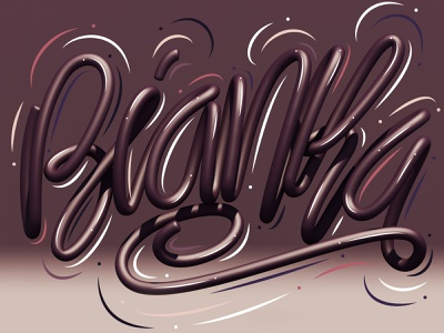 Bianka typography type c4d cinema 4d 3d art 3d letters lettering illustration erikdgmx