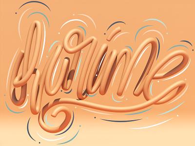 Karime cinema4d 3d art 3d typography type letters lettering illustration erikdgmx