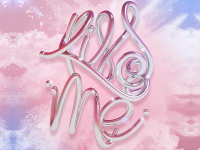 Kiss me c4d cinema 4d 3d art 3d typography type letters design lettering erikdgmx