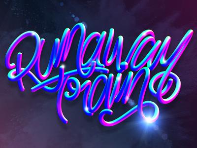 Runaway Train typography type cinema 4d c4d 3d 3d art letters lettering illustration erikdgmx