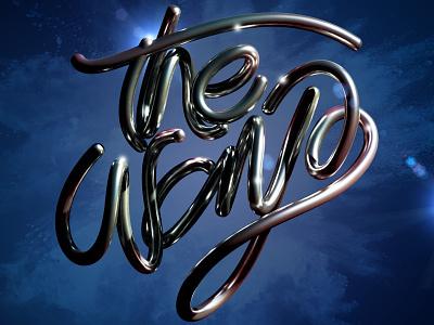 The Way illustration typography type c4d cinema 4d 3d art 3d letters lettering erikdgmx