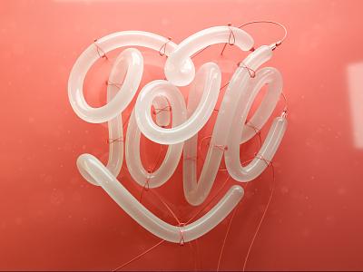Neon love 3d artist neon sign c4d 3d art 3d love letters lettering illustration erikdgmx