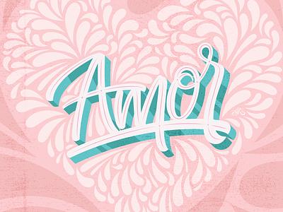 Amor / Love lettering vector art type typography scriptfont love design illustrator letters lettering erikdgmx