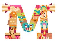 M Capital letter // Prehispanic