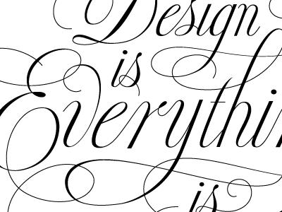 for doyald typography lettering script
