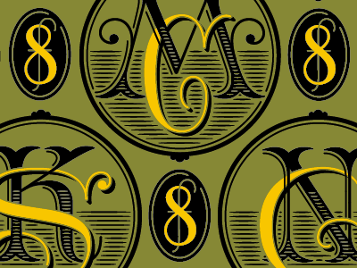 monogrammin' typography victorian lettering