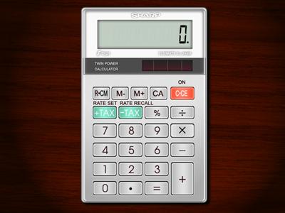 Calculator illustration ui ap texture icon