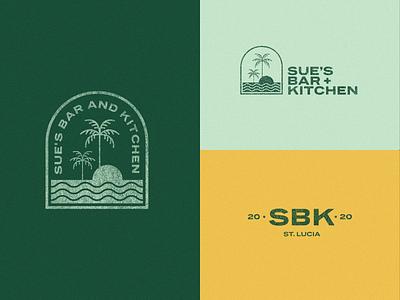 Sue's Bar and Kitchen Logo icon branding logo illustrator
