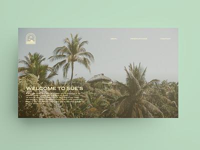 Sue's Bar and Kitchen Landing Page figma website web design ux ui
