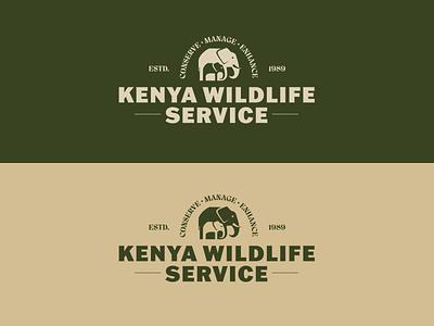 Kenya Wildlife Service Logo logo concept kenya africa safari adventure vector illustrator branding