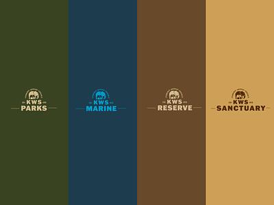Kenya Wildlife Service Naming System colour palette kenya africa safari adventure vector illustrator logo branding