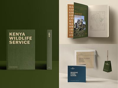 Kenya Wildlife Service Brand kenya africa safari typography manual branding stationery adventure park book