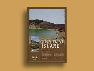 Kenya Wildlife Service Poster safari africa kenya print typogaphy design adventure branding