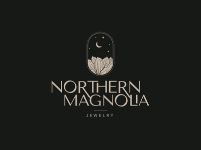 Northern Magnolia Logo accessories jewelry identity logo illustrator design illustration typography branding
