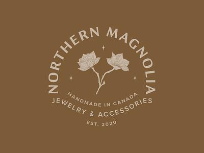 Northern Magnolia Primary Logo accessories jewelry identity design logo illustrator illustration typography branding