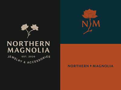 Northern Magnolia Secondary Logos accessories jewelry logo typography design illustration illustrator branding