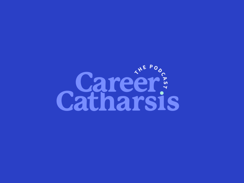 Career Catharsis Podcast Logo illustration vector podcast logo typography illustrator branding