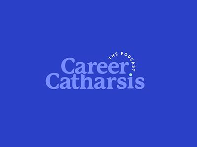Career Catharsis Podcast Logo illustration vector podcast logo typography illustrator branding