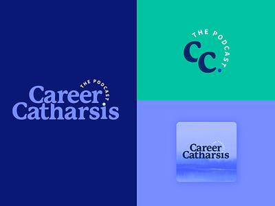 Career Catharsis Logo Set + Podcast Artwork podcast illustration design logo typography illustrator branding
