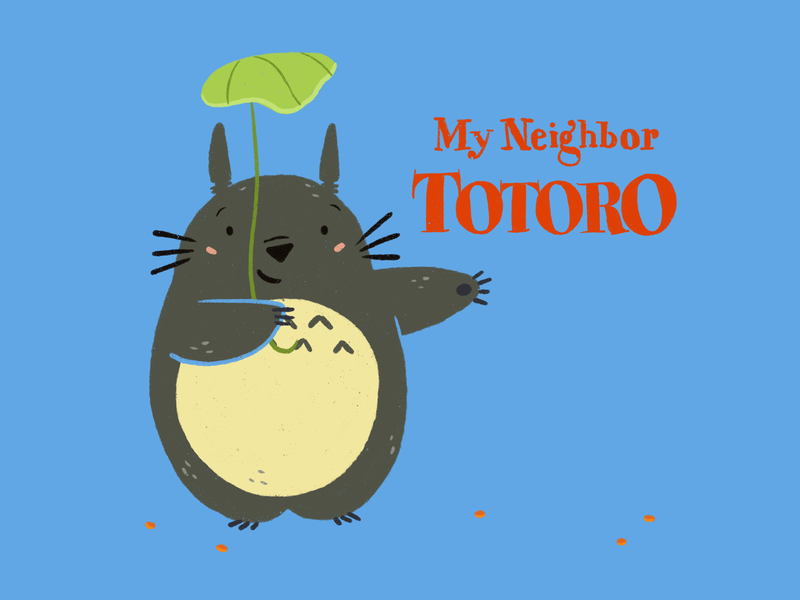 My Neighbor Totoro blue studio ghibli my neighbor totoro cute movie digitalart procreate ipadpro illustration characterdesign animation
