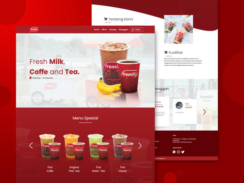 Fremilt Sambirejo Page front end developer design fremilt web design ux ui landing page