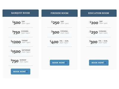The Regal Room   Simple Pricing Table ui simple design pricing table pricing