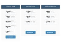 The Regal Room   Simple Pricing Table