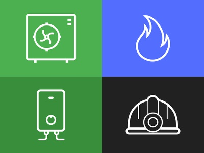 Simple Service Icons icon icons ux illustrator ui illustration