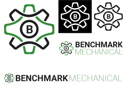 Benchmark Mechanical Logo comp logo design design logo