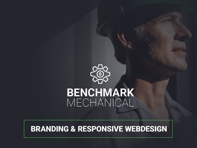 Benchmark Mechanical   Rebrand & Responsive Design rwd responsive web design responsive branding ux ui