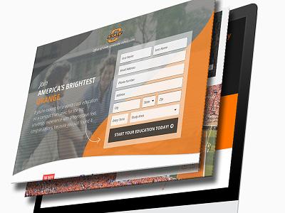OSU | Responsive Landing Page responsive rwd lead page ux ui landing page osu