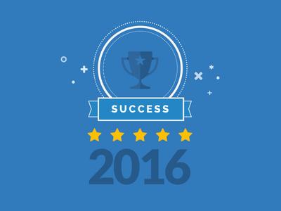 2016 Success trophy prize success propaganda