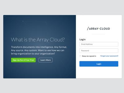 Array Login Screen product design login product