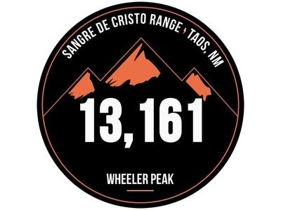 Wheeler Peak Badge new mexico mountain wheeler peak badge